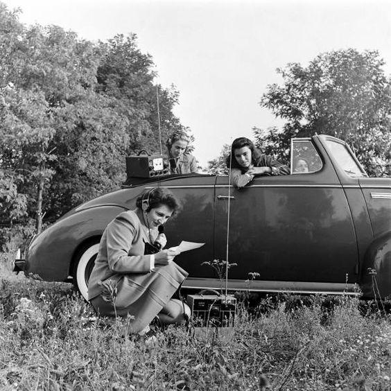 Amateur radio enthusiasts, 1945-50. Nina Leen for LIFE magazine ...